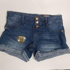Vigoss the Chelsea button fly jean shorts